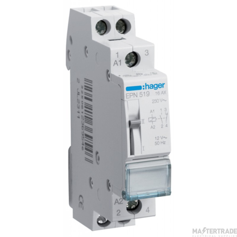 Hager EPN519 Latching Relay 1NC+1NO 12V