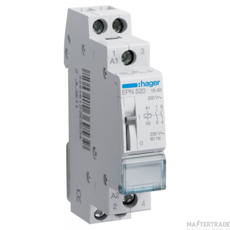 Hager EPN520 Latching Relay 2NO 230V