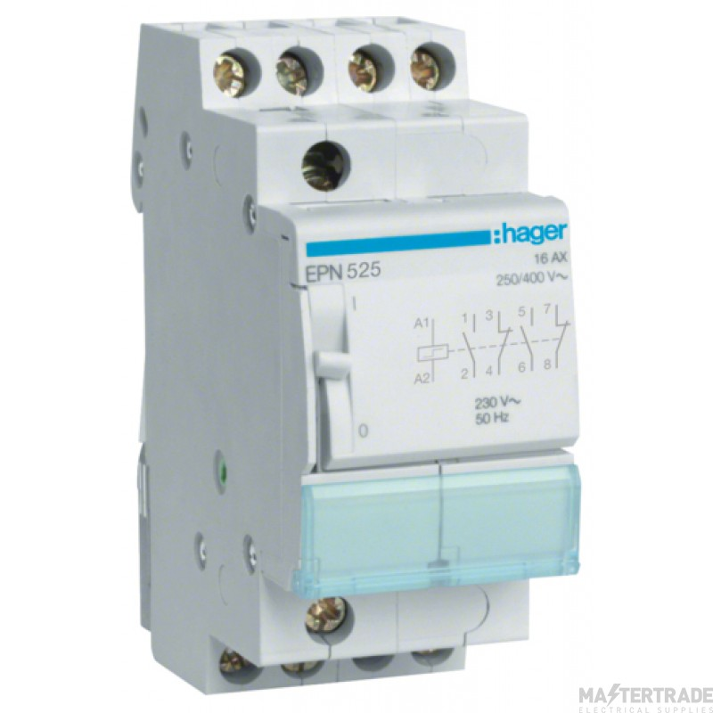Hager EPN525 Latching Relay 2NO+2NC 230V