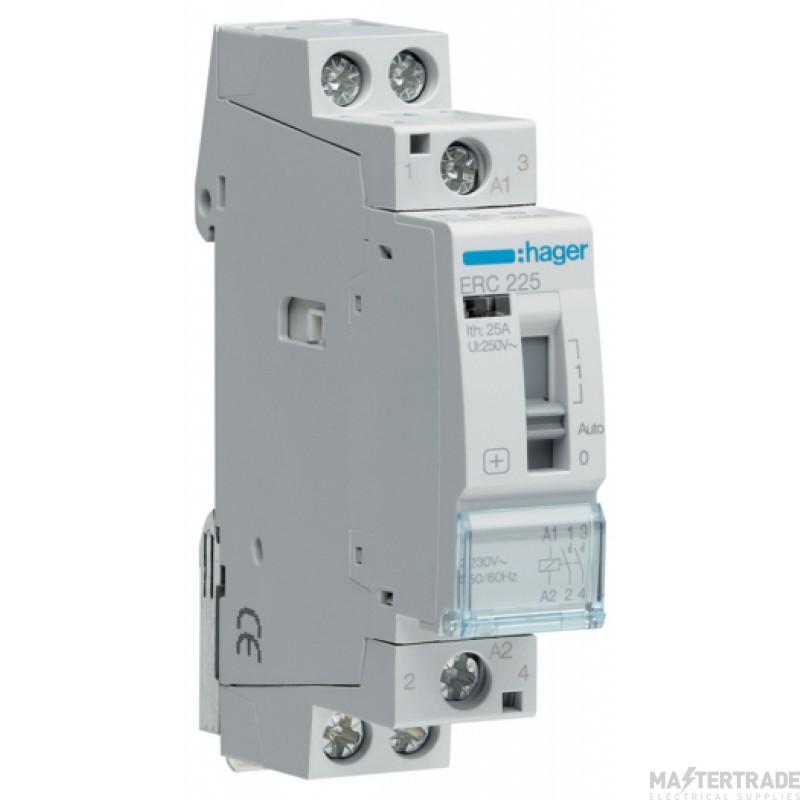 Hager ERC225 Relay 2NO 25A 230V