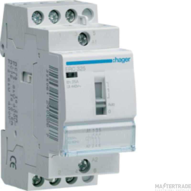 Hager ERC325 Relay 3NO 25A 230V