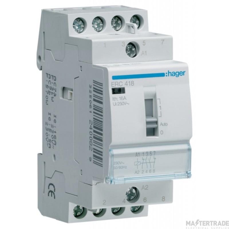 Hager ERC418 Relay 2NO+2NC 16A 230V