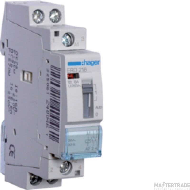 Hager ERD216 Relay 2NO 16A 24V
