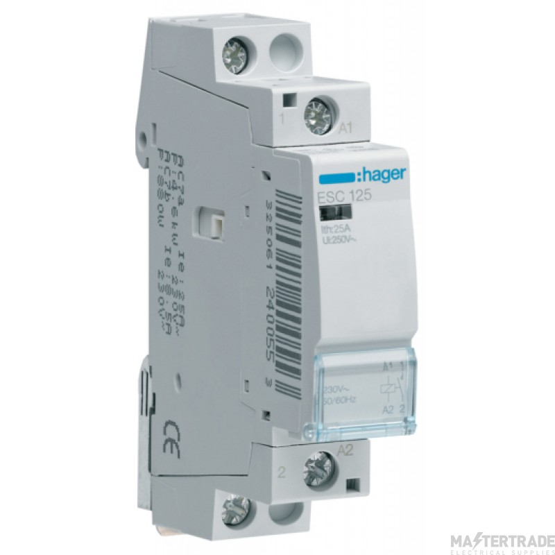 Hager ESC125 Contactor 1NO 25A 230V