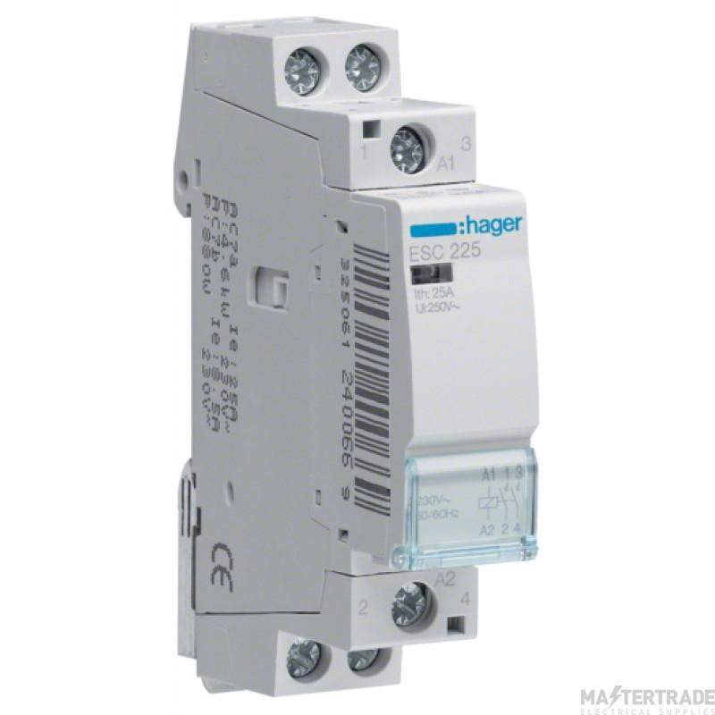 Hager ESC225 Contactor 2NO 25A 230V