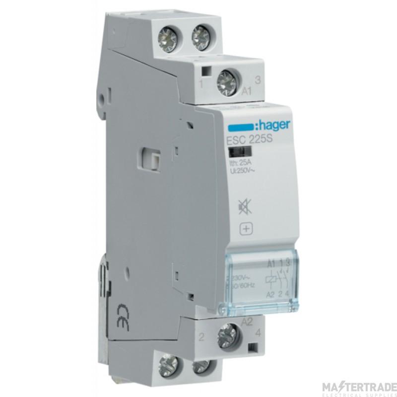 Hager ESC225S Contactor 2NO 25A 230V
