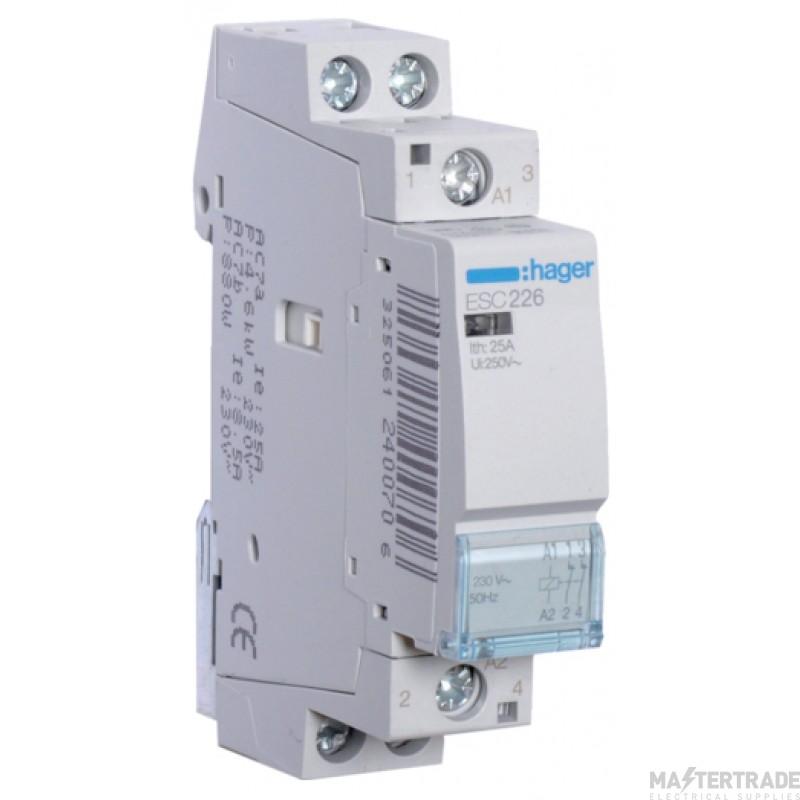 Hager ESC226 Contactor 2NC 25A 230V