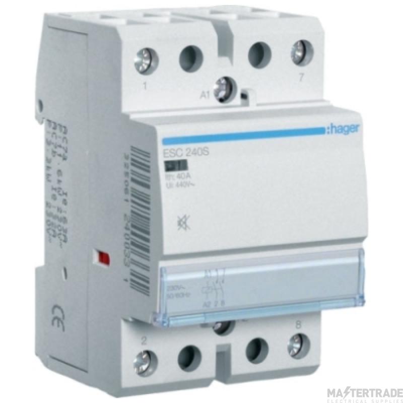 Hager ESC240S Contactor 2NO 40A 230V