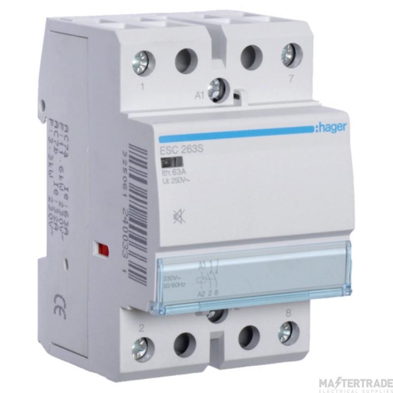 Hager ESC263S Contactor 2NO 63A 230V