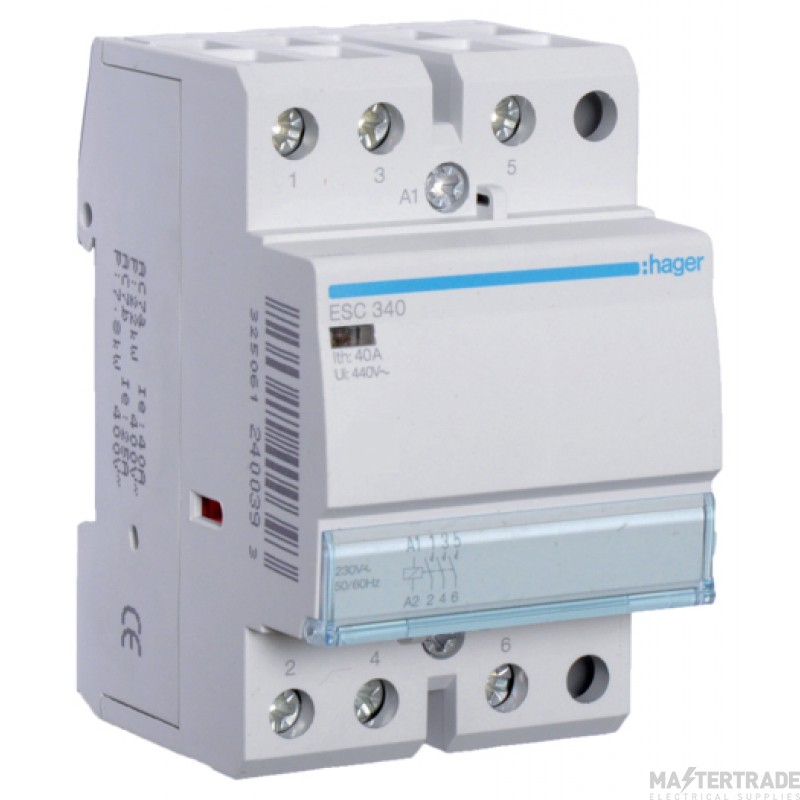 Hager ESC340 Contactor 3NO 40A 230V