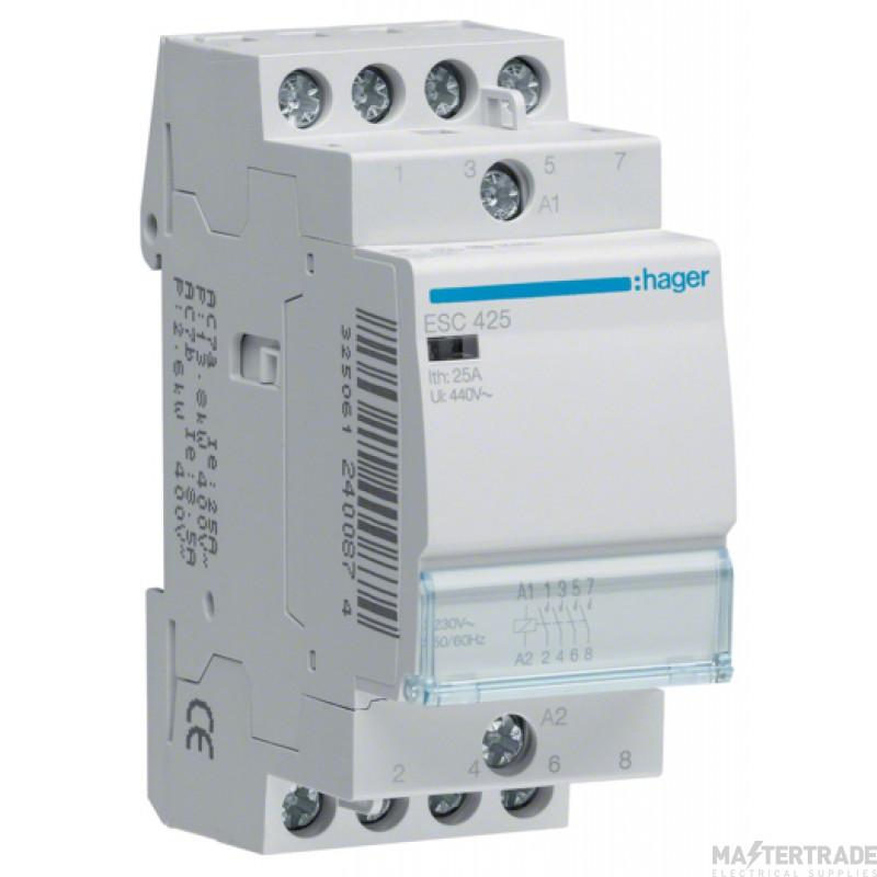 Hager ESC425 Contactor 4NO 25A 230V