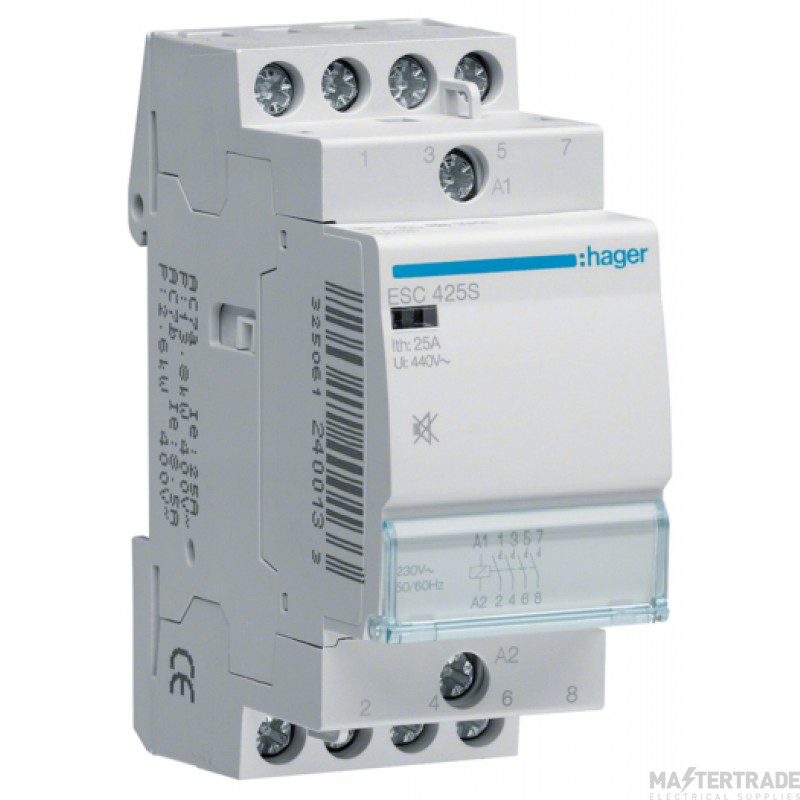 Hager ESC425S Contactor 4NO 25A 230V