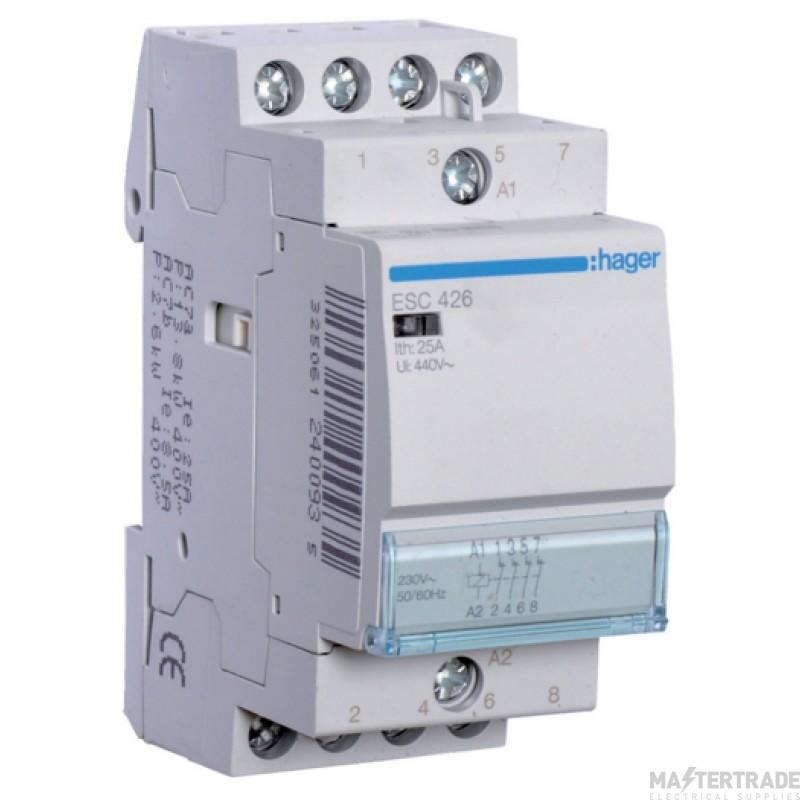 Hager ESC426 Contactor 4NC 25A 230V
