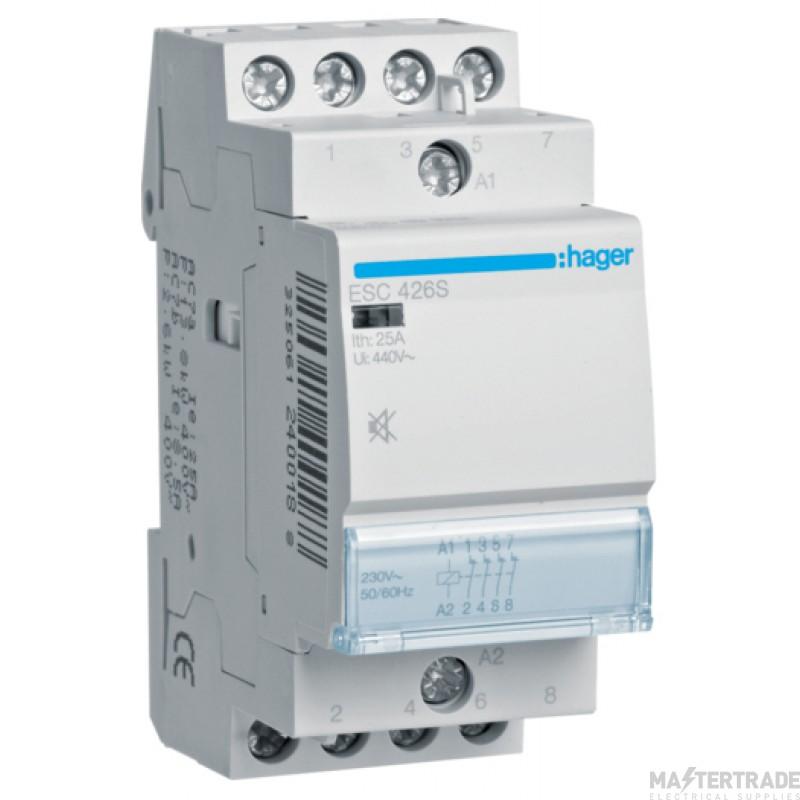 Hager ESC426S Contactor 4NC 25A 230V
