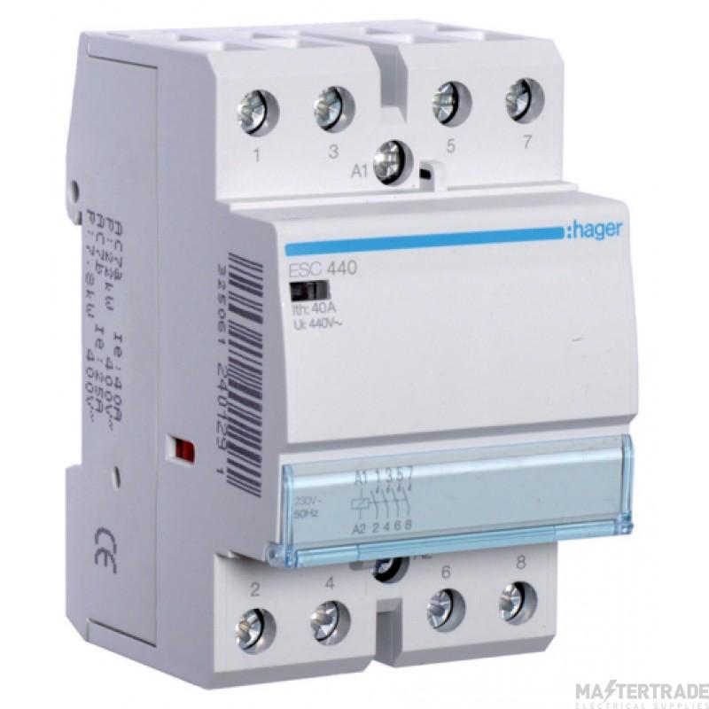Hager ESC440 Contactor 4NO 40A 230V
