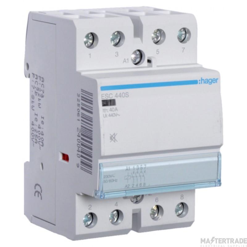 Hager ESC440S Contactor 4NO 40A 230V
