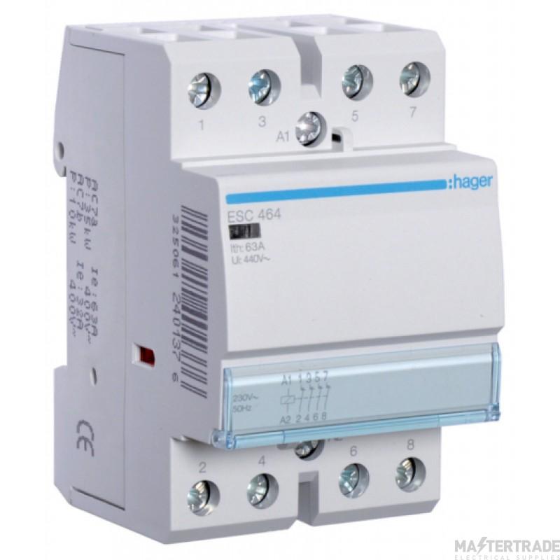 Hager ESC464 Contactor 4NC 63A 230V