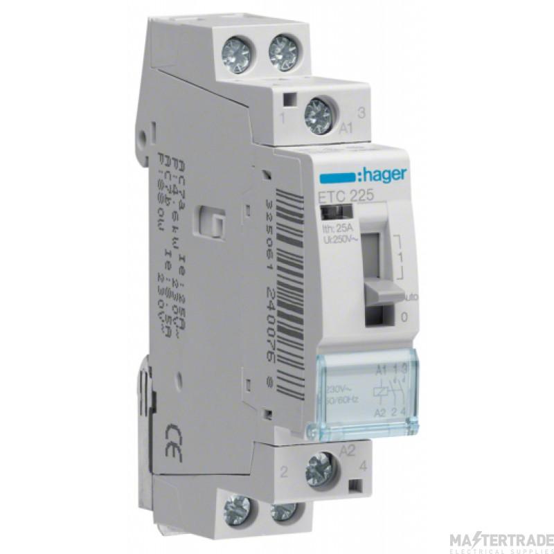 Hager ETC225 Contactor 2NO 25A 230V