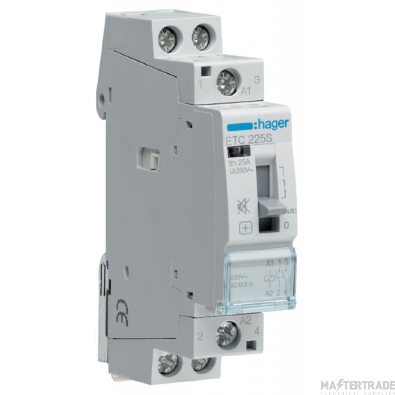 Hager ETC225S Contactor 2NO 25A 230V