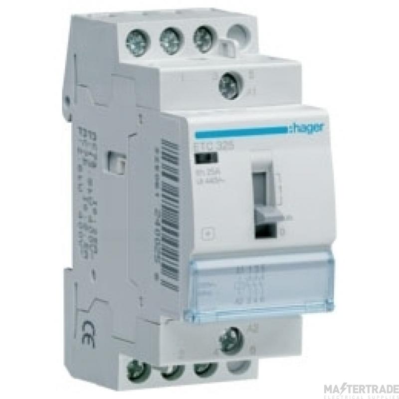 Hager ETC325 Contactor 3NO 25A 230V