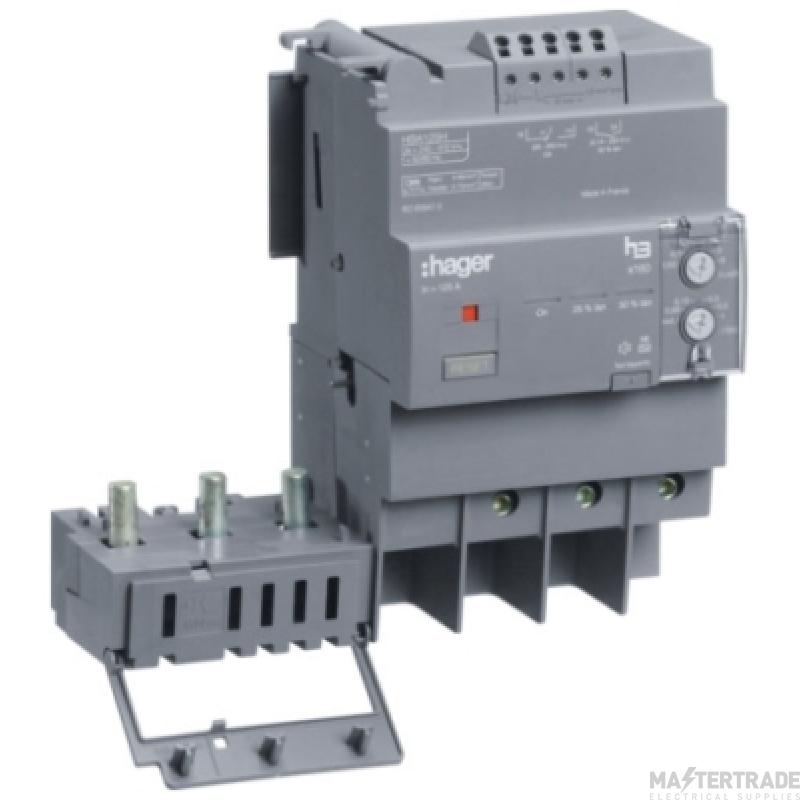 Hager HBA127H RCD Add On Unit 3P 125A