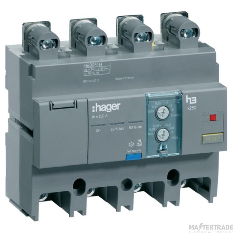 Hager HBB251H RCD 4P AddOn 250A30-6000mA