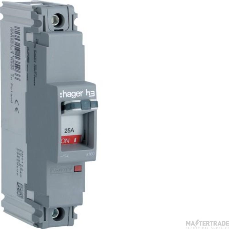 Hager HDA023Z MCCB SP 25A 18kA