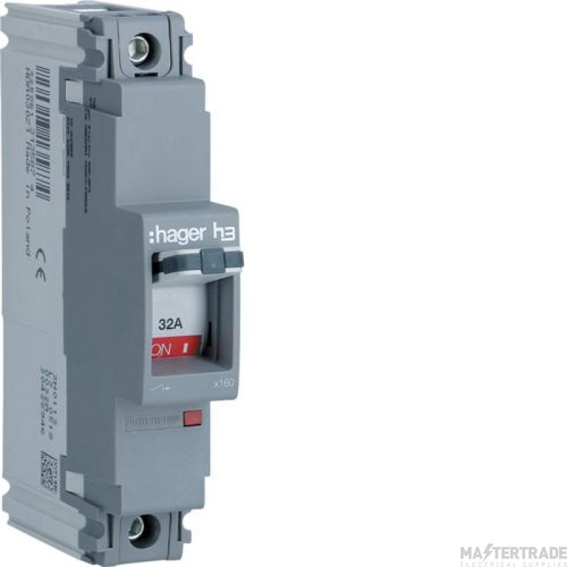 Hager HDA030Z MCCB SP 32A 18kA