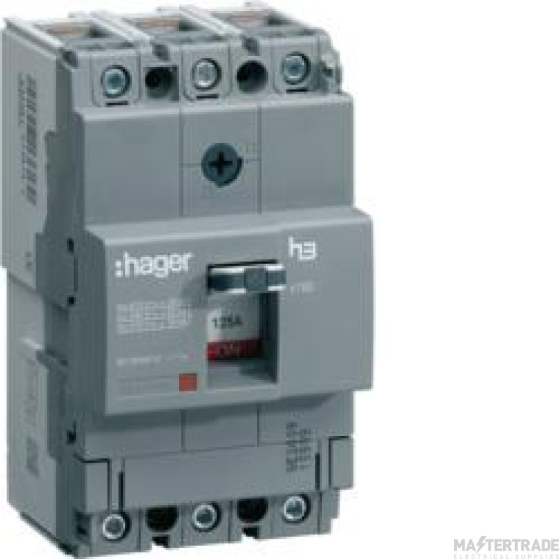Hager HDA100Z MCCB X160 3P 100A 18kA