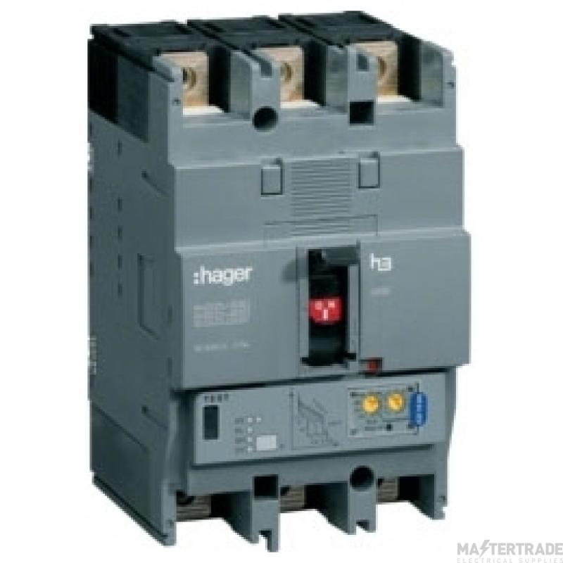 Hager HEC125H MCCB H250 3P LSI 125A 70kA