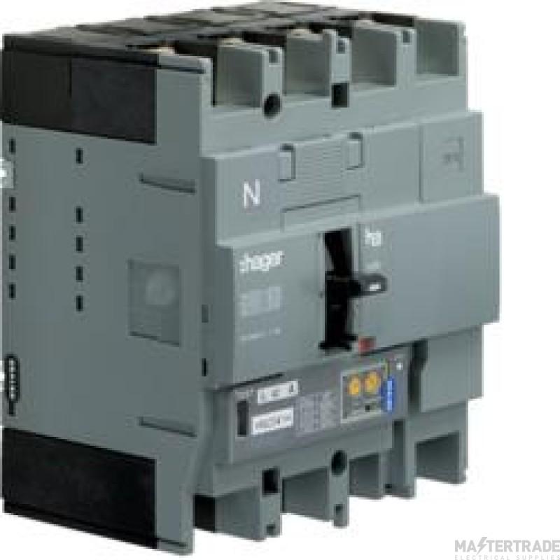 Hager HEC126H MCCB H250 4P LSI 125A 70kA