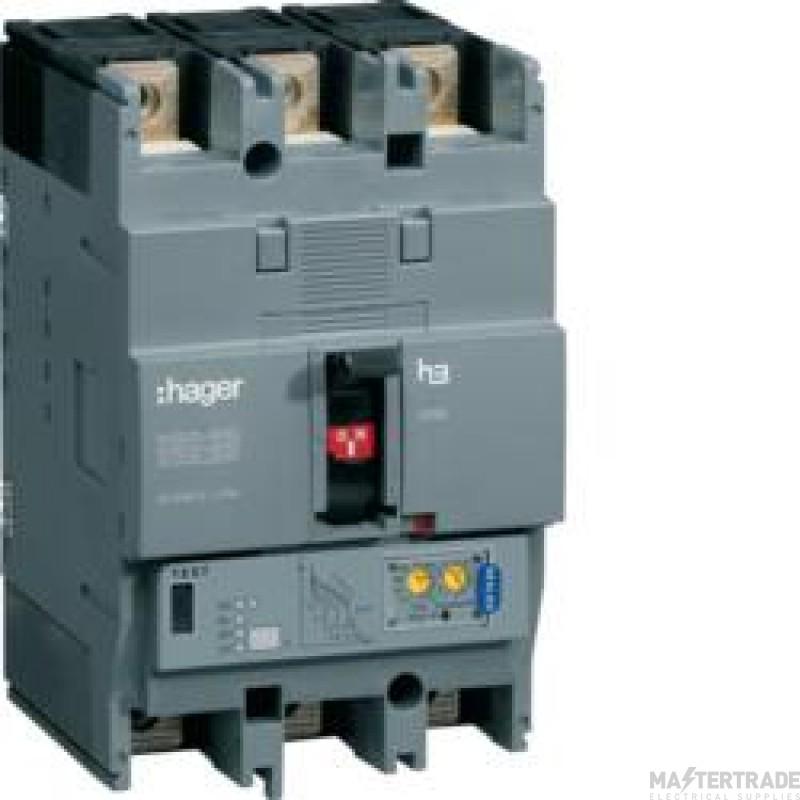 Hager HEC250H MCCB H250 3P LSI 250A 70kA