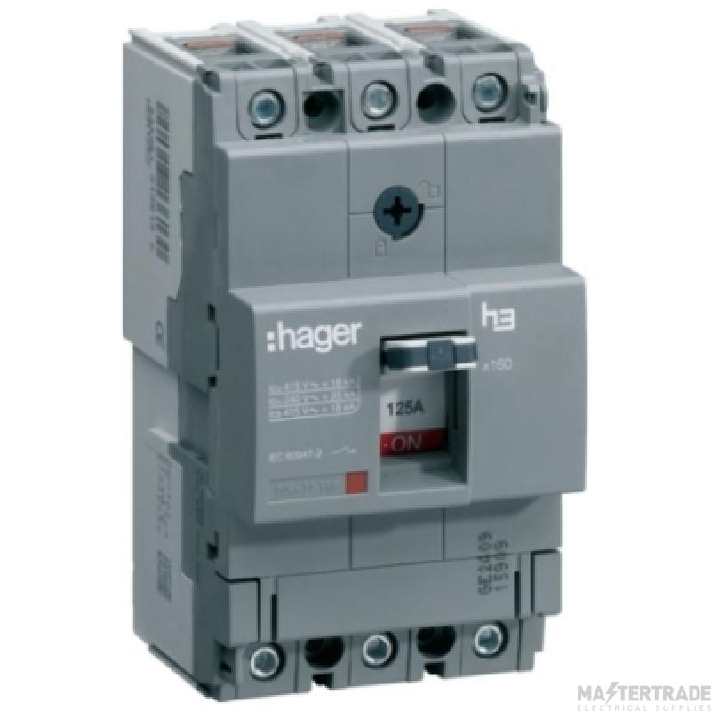 Hager HHA025U MCCB TP 25A 25kA