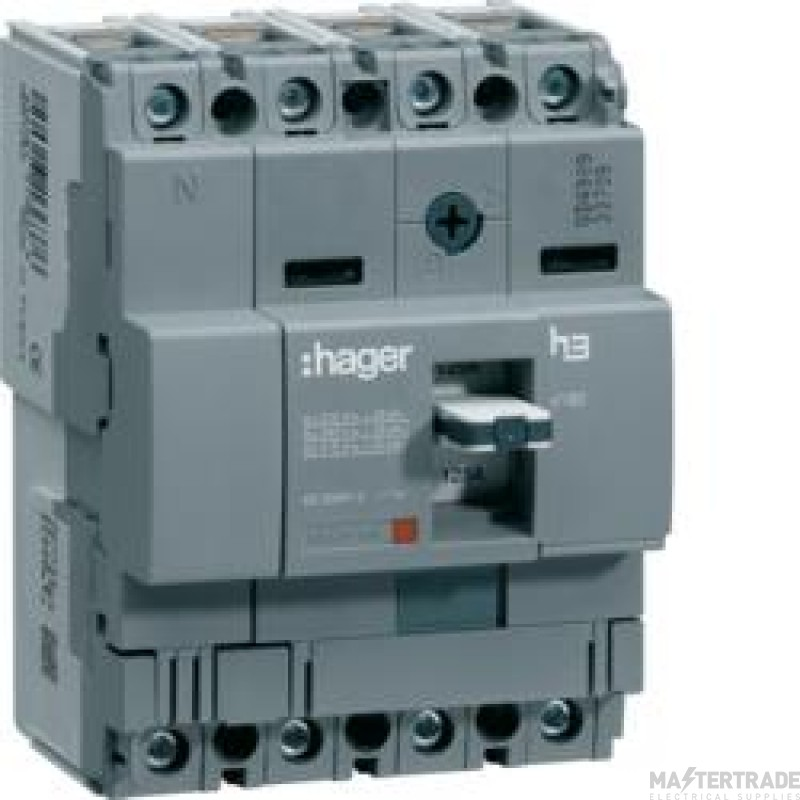 Hager HHA064U MCCB X160 4P 63A 25kA