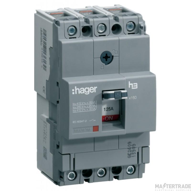 Hager HHA125U MCCB TP 125A 25kA