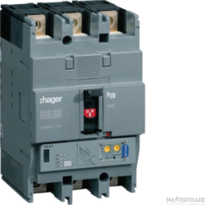 Hager HHG250U MCCB H250 3P TM 250A 25kA