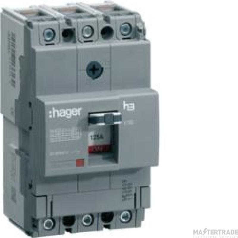 Hager X160 3P MCCB 125A 40kA HNA125Z