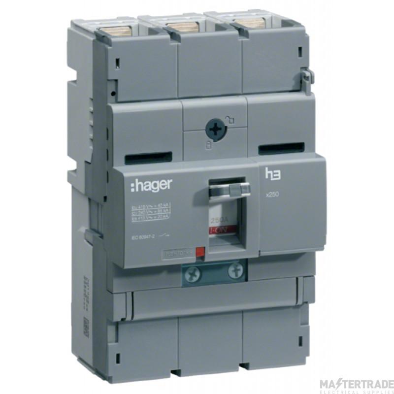 Hager Invicta 3 TP MCCB 125A 40kA HNB125H