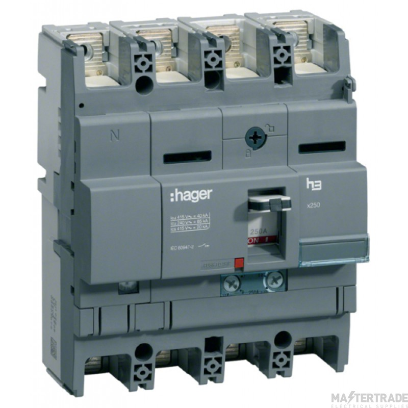 Hager Invicta 3 4P MCCB 160A 40kA HNB161H