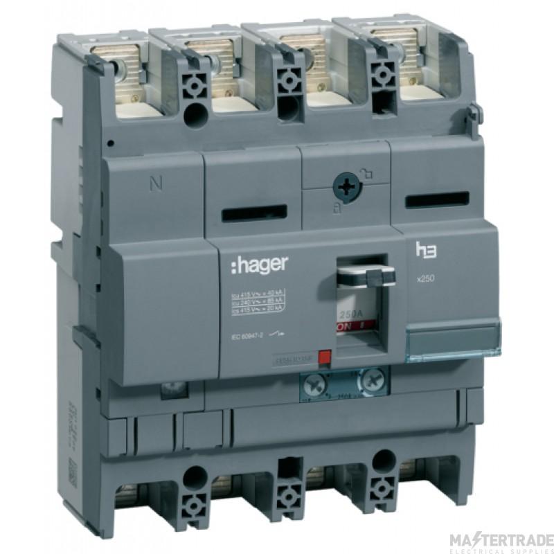 Hager Invicta 3 4P MCCB 250A 40kA HNB251H