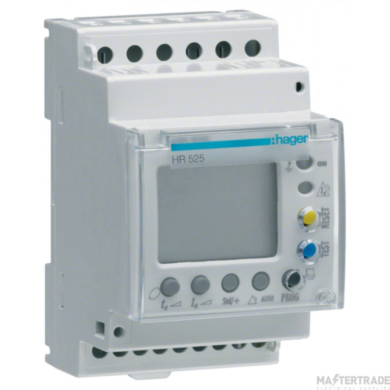 Hager HR525 Earth Leakage Relay 0.03-10A