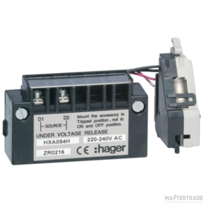 Hager HXA054H U/V Release Delayed 220V