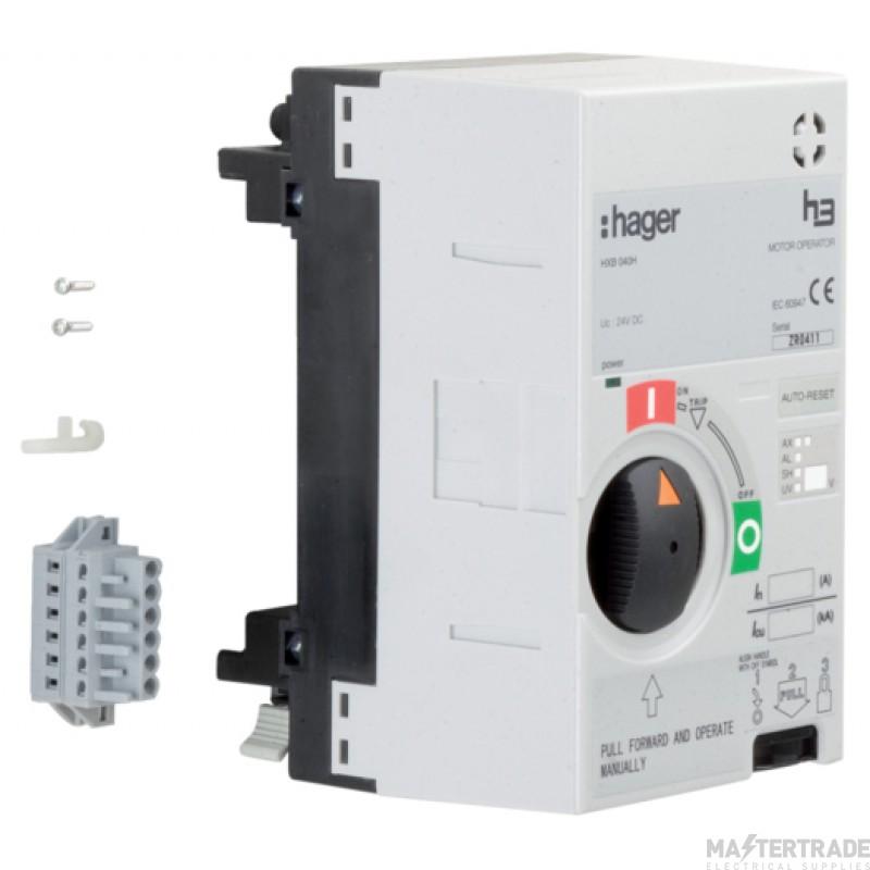 Hager HXB040H Motor Operator X250 24V DC