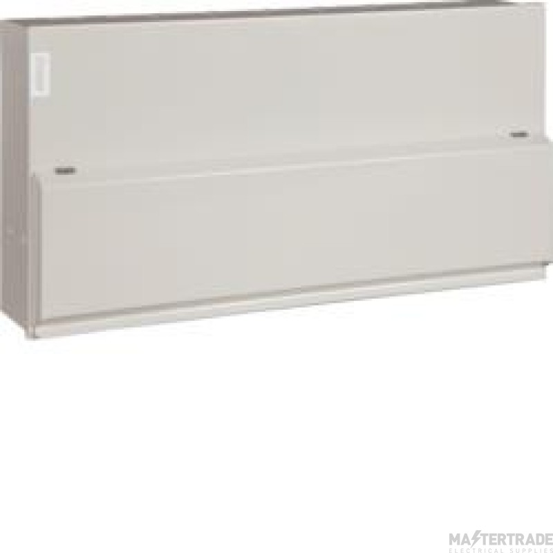 Hager 14 Way High Integrity SPD Consumer Unit 2x100A + 10 Type B SP MCBS w/o Knockouts