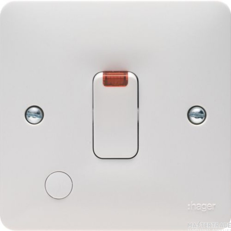 Hager WMDP84FON Switch DP+Neon F/O 20A