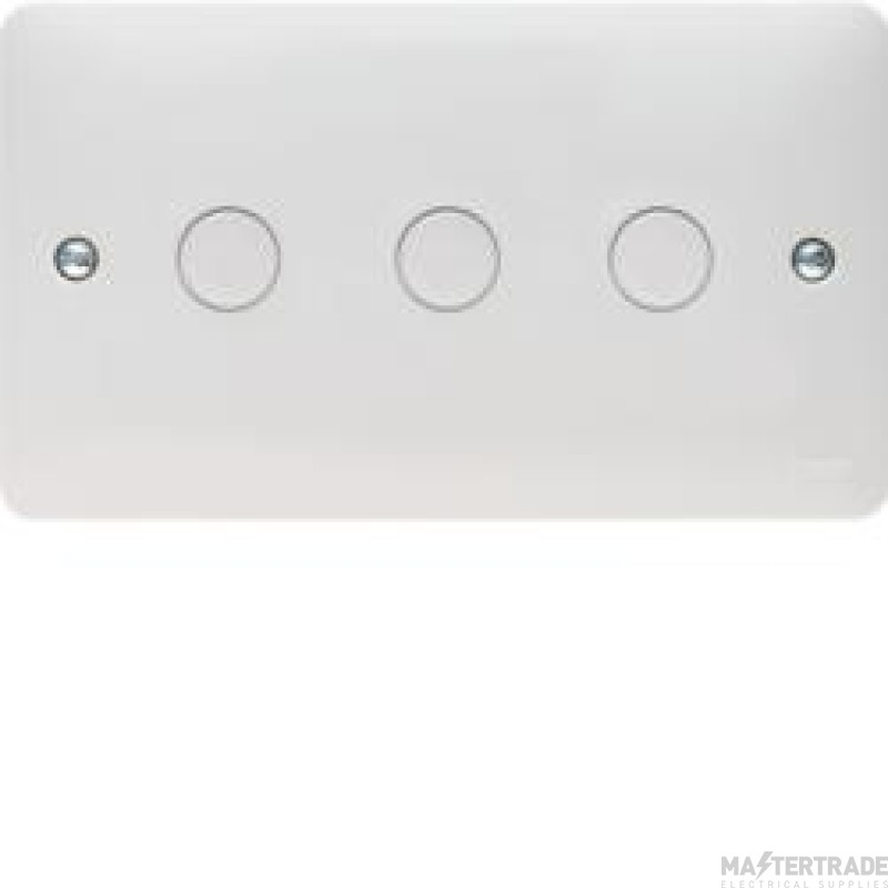 Hager Sollysta 3 Gang Dimmer Switch White Urea WMDS3
