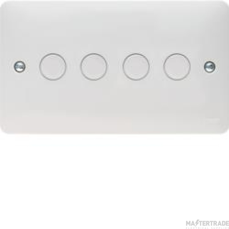 Hager Sollysta 4 Gang Dimmer Switch White Urea WMDS4