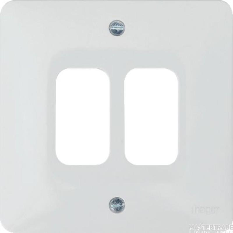 Hager WMGP2 Grid Frontplate 2G Moulded