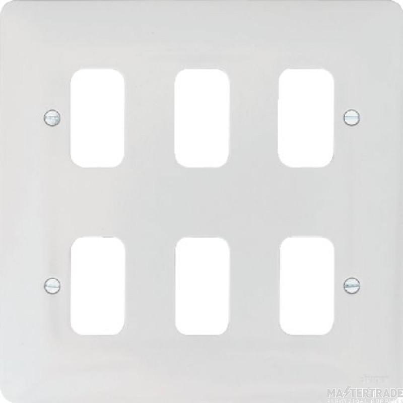 Hager WMGP6 Grid Frontplate 6G Moulded