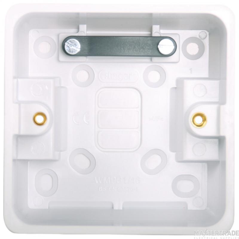Hager WMPB1/46 Surface Box Sgl 46mm